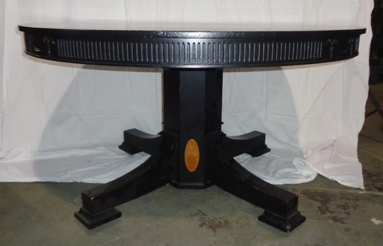 Antique Pedistal Table W/ Two Leafs & Pads