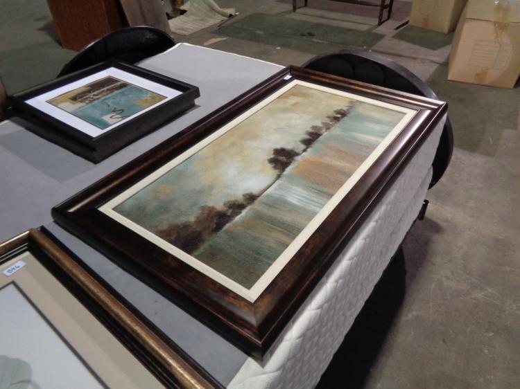 Framed Lake Painting
