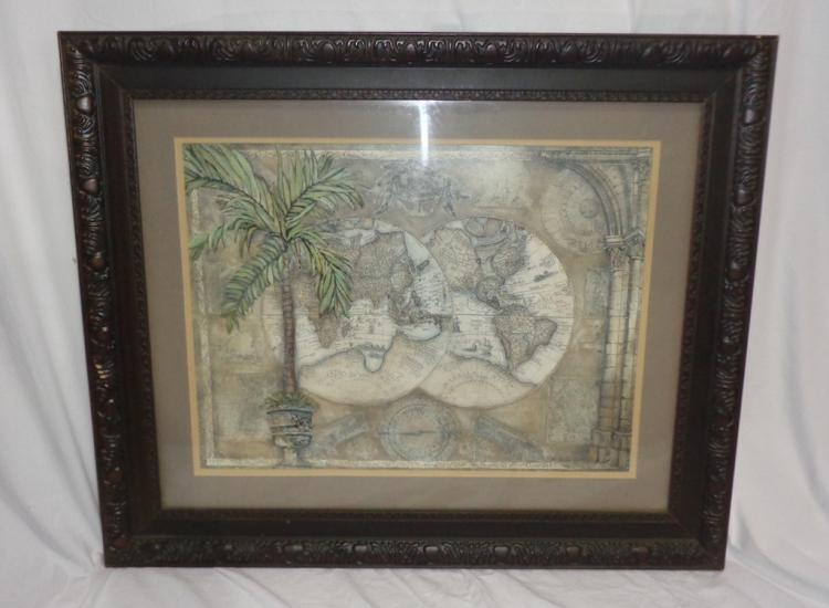 Framed Picture Of World Map