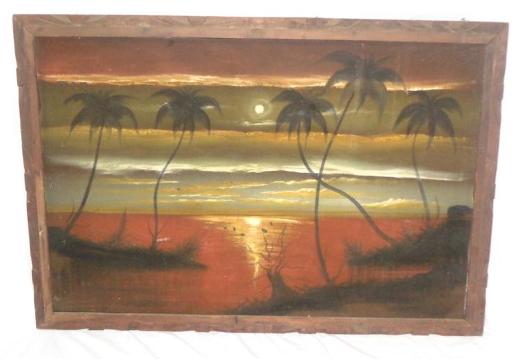 Framed Sunset & Palms
