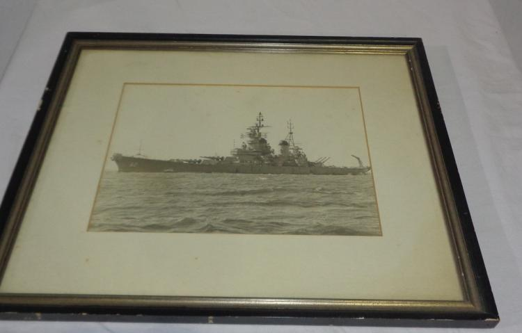 Framed Uss New Jersey-cape May 1969