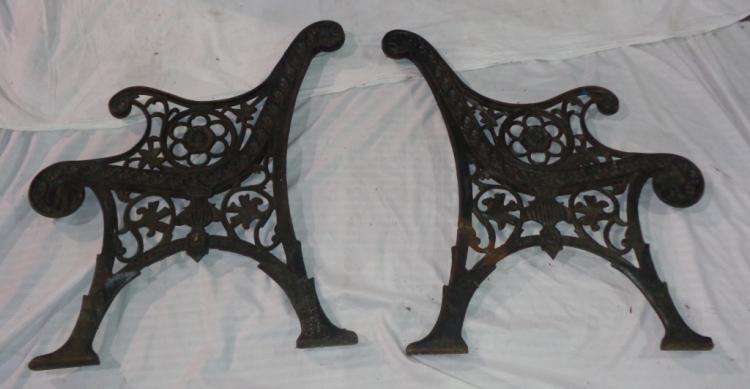 Metal Bench Pieces (2)