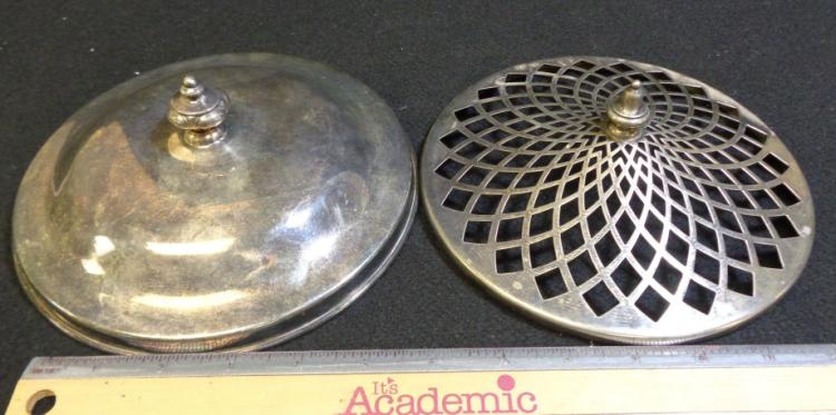 Misc. Silver Plate  Tops  2 Pieces