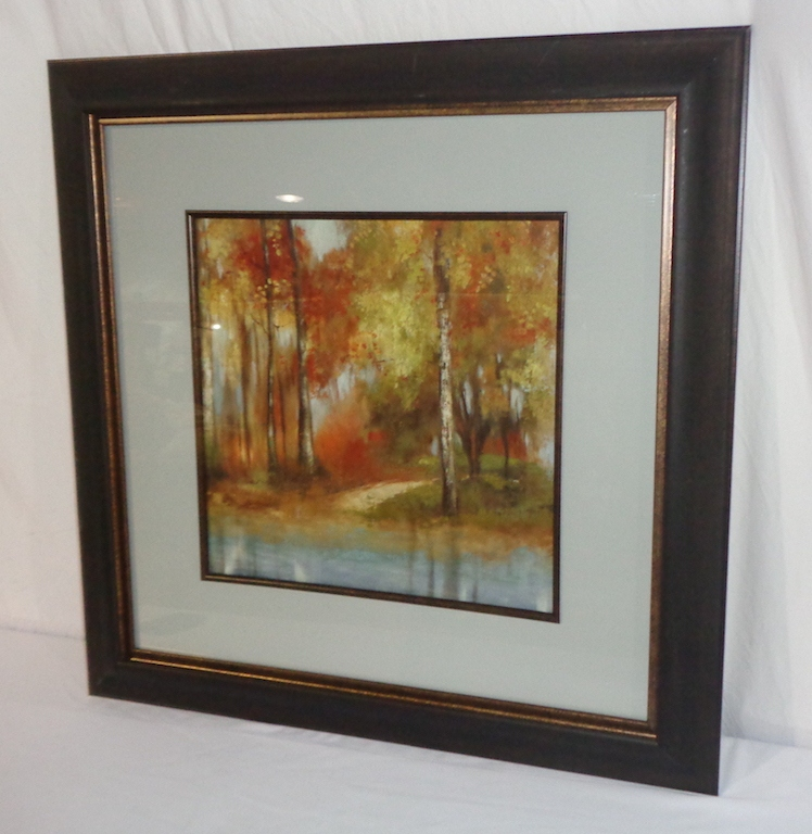 Pair Of Framed Prints Of Colorful Trees
