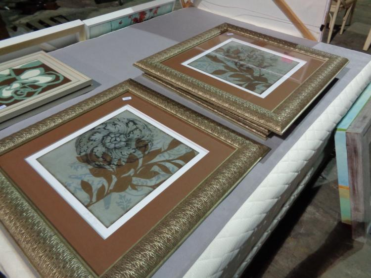 Pair Of Largegold Framed Pictures