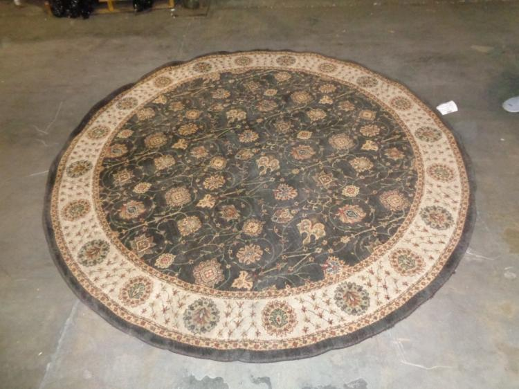 Round Brown & Tan Rug