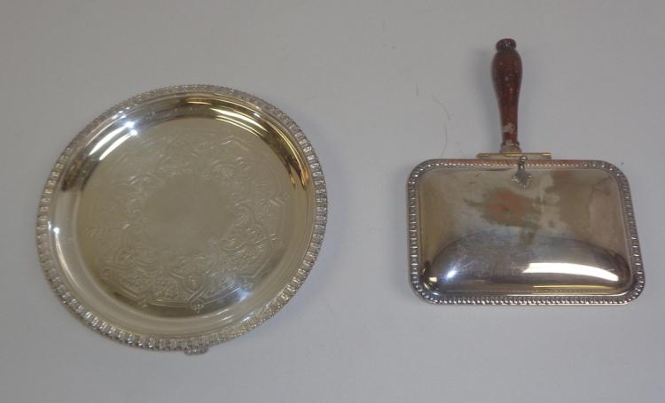 Silver Plate On Copper Crumb Catcher & Tray