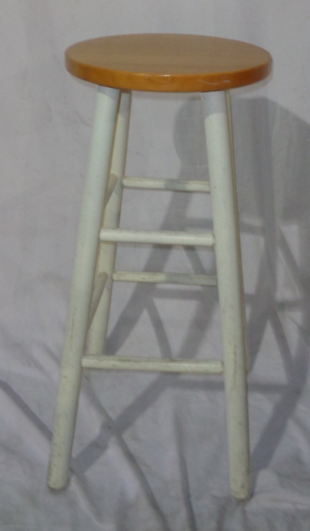 White And Tan Bar Stool