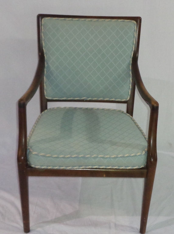Wooden Chair With Blue