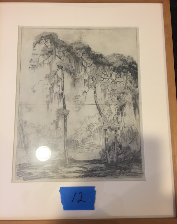 Alfred Hutty Original Moss Drapped Trees(Pulled till November Auction)
