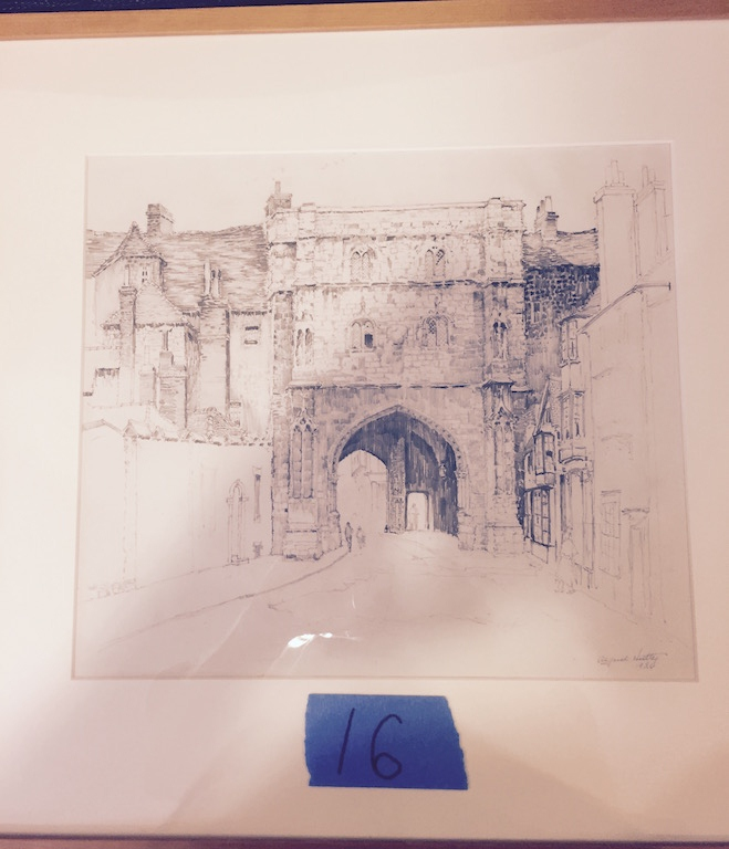 Alfred Hutty Original Old City Gate (Pulled till November Auction)