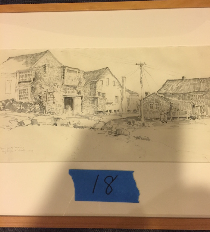 Alfred Hutty Original Stone Buildings(Pulled till November Auction)