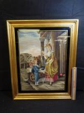 Antique Framed Needle Point