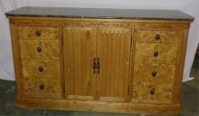 Dresser With Faux Marble Top 69x19.5x39