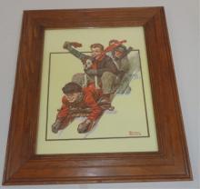 Framed Print Of Children 20x16