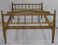 Full Red Wood Framed Rope  Bed (extended) 53x77x36