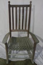 Gray Weathered Rocking Chair 31x24x44