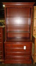 Mahogany Dresser & Hutch 39x23x83