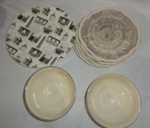 Off White & Black Dish Set