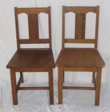 Pair Of Large Wood Classroom Chairs 16x x33.5