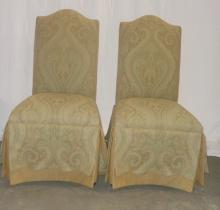 Pair Of Upholstered Parson Chairs 20x22x41