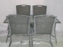 Patio Table With 4 Chairs Table 66x40x28 Chairs 25x22x40