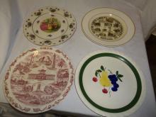 Set Of 4 Collector Plates North Carolina , Ohio 10.5
