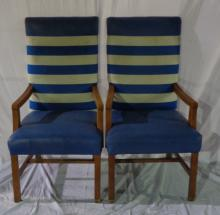 Set Of 4 Leather Nautical Chair