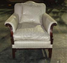 White Upholstered Chair 31x33x32