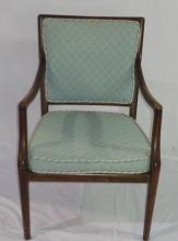 Wooden Chair With Blue 23x26.5x34