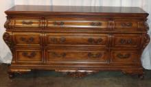 Large Mahogany 9 Drawer Dresser