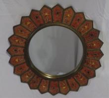 Orange & Borwn Star Mirror
