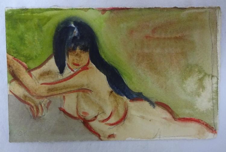 Sally Frost Knerr Original W/c Nude Female