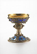Russian Gilt and Enamel Chalice
