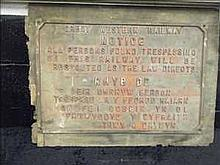 Vintage GWR warning sign