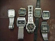 Collection of non-working vintage digital watches