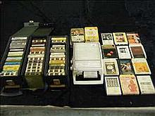 Portable 8 track player and large collection of 8