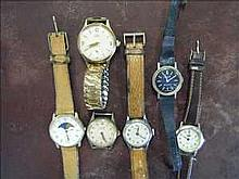 Collection of non-working vintage gents watches