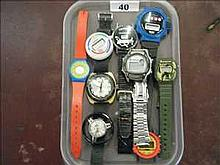 Collection of non-working sport and fun watches