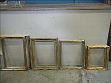 6 antique effect picture frames