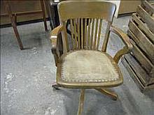 Antique swivel office chair