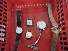 Collection of 5 working vintage ladies watches