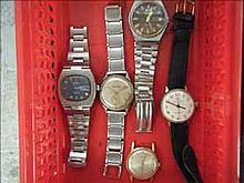 Collection of 5 working vintage watches inc.