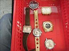 Collection of 6 working vintage watches inc. Timex