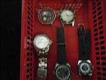 Collection of 5 working chronograph watches inc.