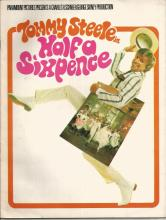 Half a Sixpence program. UNSIGNED. Good Condition. All signed items come with our certificate of