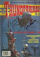 Gerry Anderson & Sylvia Anderson signed Thunderbirds Comic.
