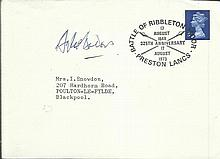 Douglas Bader signed 1973 Plain cover with neat