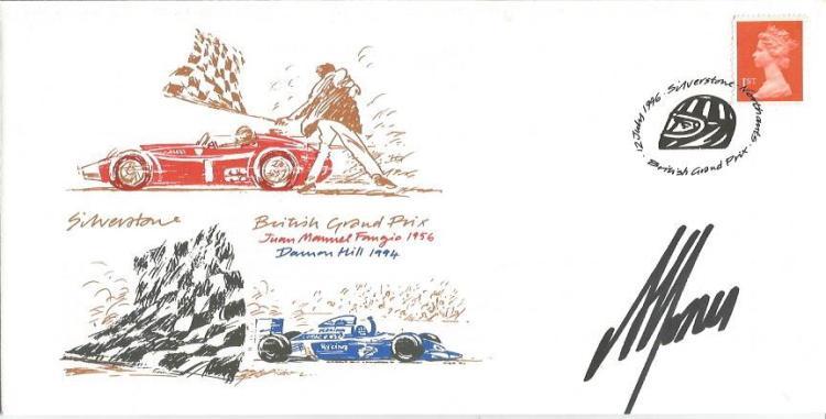 Alan Jones Signed 1996 Silverstone Motor Racing Cover