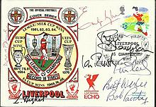 Bob Paisley Liverpool Multi-signed Liverpool